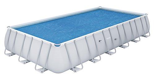Cobertor solar para piscina rectangular 732x366 cm. - medidas: 703 x 336 cm. - peso: 3,1 kg. - creado para mantener la temperatura del agua y dificultar el crecimiento de algas en las piscinas. - el cobertor flota en la superficie del agua, multiplic...