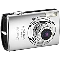 Canon Digital IXUS 860 IS Digitalkamera (8 Megapixel, 3,8-fach Zoom, 7,6 cm (3 Zoll) Display, Bildstabilisator) silber / schwarz