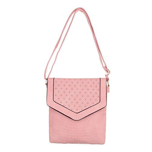 Ital-Design, Borsa a spalla donna rosa chiaro
