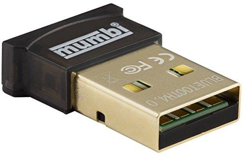 mumbi Nano USB Bluetooth Dongle 4.0 für Windows 10 / 8 / 7 / Vista / XP , Plug & Play, Reichweite 20-50m