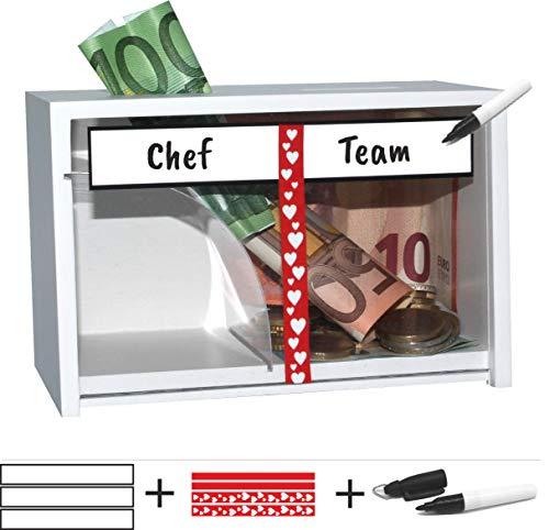 jaggson Trinkgeld-Kasse Gastronomie/Friseure/Praxis/Teams UVM. : ver-/abschließbar (Praxis-kasse)