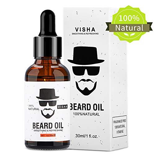 Fixget Aceite para barba, 100% Natural Aceite De Barba Promueve el Crecimiento de la Barba,Regalo para Hombres
