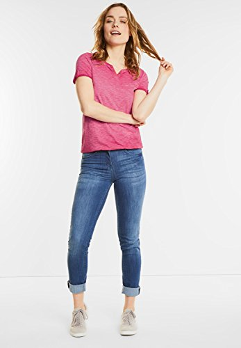 CECIL Damen Washed Look T-Shirt Anni just red (rot)