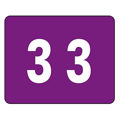 Smead color-coded numérico 3, color morado