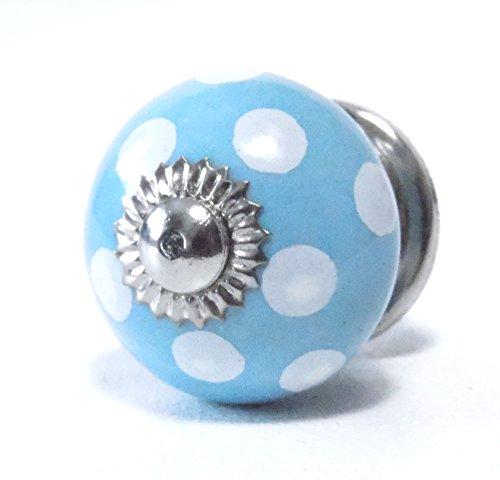 Schrankknöpfe /mini Knöpfe 3 cm Ø Blau,Weiß (Blauer Mini-knopf)