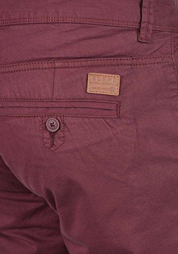 BLEND Tromp Herren Chino-Hose lange Business Hose Casual Stoffhose Freizeithose aus 100% Baumwolle Zinfandel (73006)
