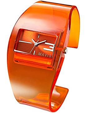 MAVIS Modische Damen Spangen-Uhr Orange 04897019