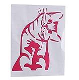 LnLyin Cartoon Lustige Katze Aufkleber Auto-Scheibenwischer Abziehbild-Auto-Styling Autoaufkleber Aufkleber Decal Sticker,Rosa