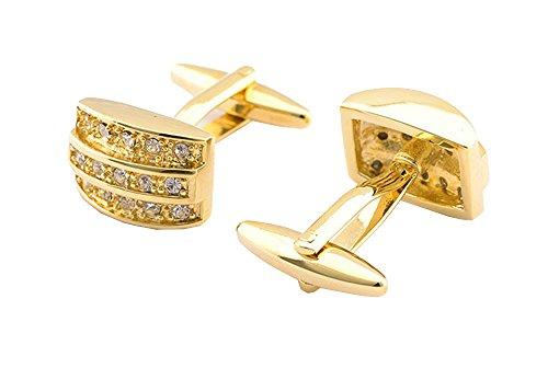 Brillante Moda Vendita Calda Rame Strass Colore Oro Affari Regalo Camicia Accessori Gemelli