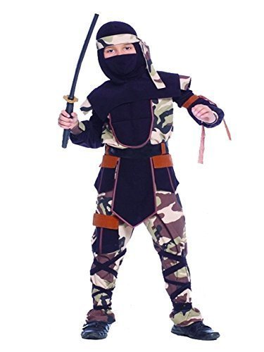 Ninja Kostüm für Kinder, Camouflage Mortal Combat GI Joe Fancy Dress (Neon Ninja Kostüm Kinder)