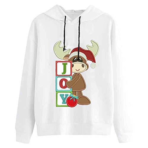 TWISFER Langarmshirt Damen Santa Claus Print Lose Tops Damen Casual Pullover Lange Sleeve T-Shirt Basic Tee Herbst Winter Sweartshirt Cartoon Muster Lose Hemd -