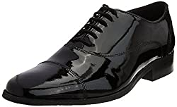 Carlton London Mens Kevin Black Leather Formal Shoes - 10 UK (CLM-1149)