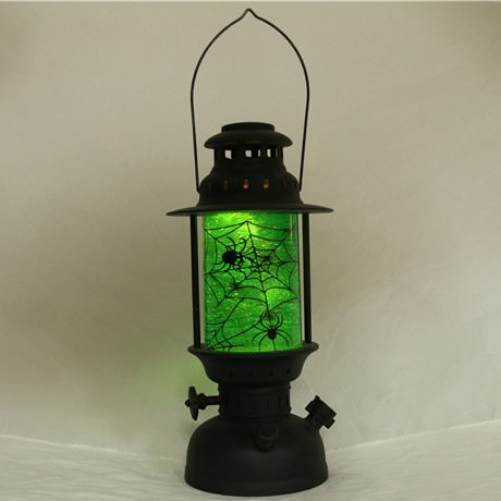 Kerosene Lamp European Retro Vintage Kerosene Lamp Led Electronic Lamp Bedside Lamp Night Light Halloween, Spider Web (Web-schwarz Spider Halloween Licht)