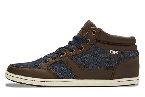 Re Mid Knights Scuro Sneakers blu Alte style Marrone British Marino Uomini
