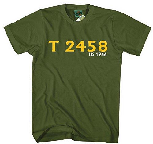 Beach Boys Pet Sounds Catalogue Number Inspired, Herren T-Shirt, X Large, Military Green (Beach Boys-pet Sounds Mono)