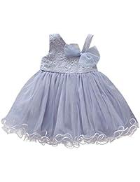 127199cc8 Vestido Tul para Bebe Niña Fiesta Bautiz Primavera Verano 2019