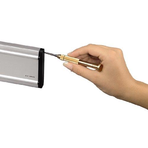 Hama Feinmechaniker Mini Schraubendreher-Set für Uhr, Brille, Modellbau, Handy, PC, Laptop (Magnetisierbar, Torque, Schlitz, Kreuzschlitz) Werkzeug-Set 13-teilig - 6