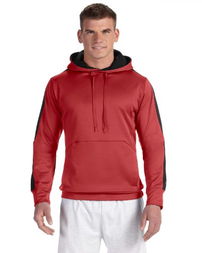 Champion Performance 5.4 Oz. Colorblock Pullover Hood Scarlet/Black