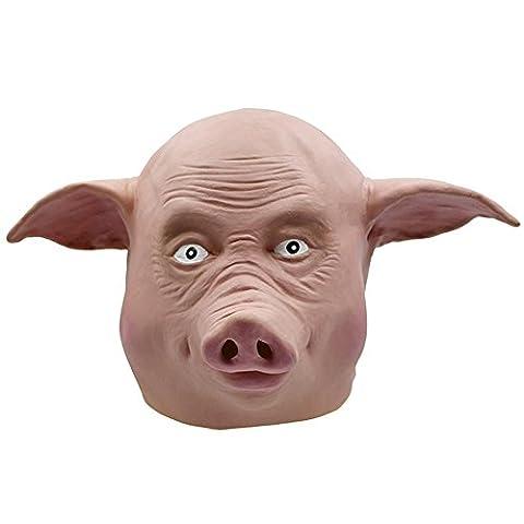 SQCOOL Halloween Masken Weihnachten Troupe Schweine Party Poker Lustige Jacken Latex (Schwarze Katzen-kostüm Diy)