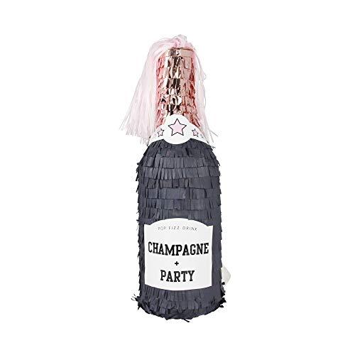 InviteMe 1 Champagner Pinata zum Selbst-Befüllen für Silvester, Baby-Shower und Erwachsenen-Geburtstage