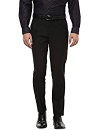 Peter England Men's Slim Fit Formal Trousers