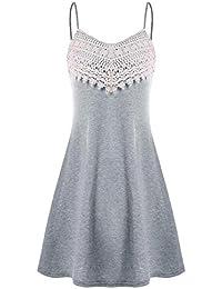 VENMO Vestidos Mujeres,Vestido de Moda para Mujer con Estampado de Notas de Alta Costura