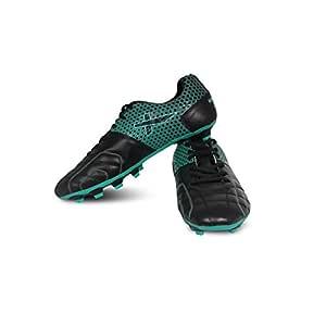 Vector X Breeze Football Shoes, Adult 4 UK (Black/Sea Green)