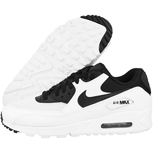 Nike Herren Air Max 90 Essential Low-Top white-black-black-white (537384-131)