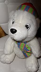 Lindt ours peluche ours polaire avec écharpe et bonnet blanc env. 28 cm
