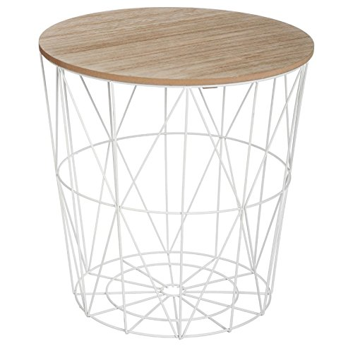 Paris Prix - Table D'appoint Design Kumi 41cm Blanc