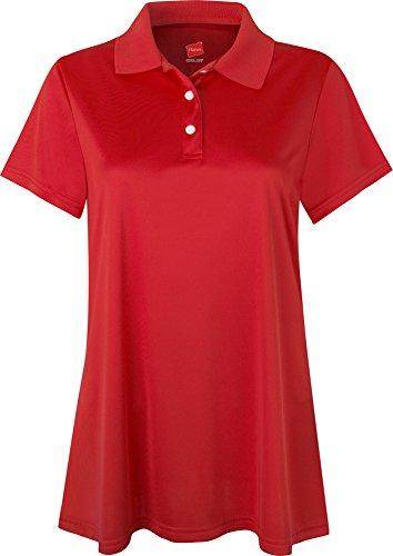 Hanes - T-shirt de sport - Manches Courtes - Femme rouge - Carmin