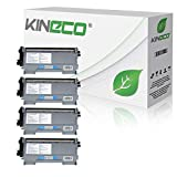 Kineco 4 Toner kompatibel für TN-2010 / TN-2220 für Brother MFC-7360N DCP-7055 Brother HL-2135W HL-2130 HL-2132 DCP-7057 - TN2010 TN2220 - Schwarz je 3.000 Seiten