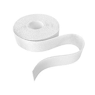 KabelDirekt - Klett Kabelbinder - 20mm x 10m - (Rolle für Kabel, frei zuschneidbar, weiß)