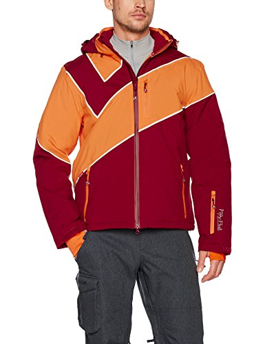 Fifty Five Saint Andrews Herren Skijacke Snowboardjacke Rot (Merlot/Orange 009)