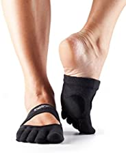 Toesox Black Sport Socks For Women