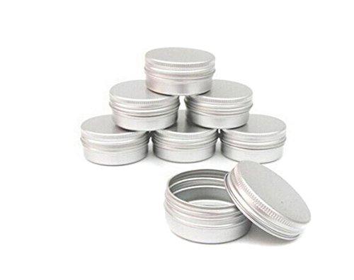 3PCS leere tragbare Aluminium-Flasche nachfüllbare Metall-Box-Container Make-up Verpackung Fall für Lippenstift Salbe Gesicht Creme (30ml/1oz) (Reisen Gesicht Creme Behälter)