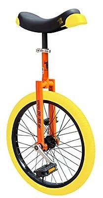 QU-AX Luxus Einrad 406 mm (20?) orange mit gelben Reifen