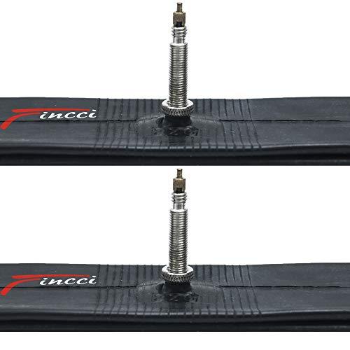 Fincci Paar 20 x 1,75 1,95 2,0 2,1 2,125 Zoll 33mm Sclaverandventil Schläuche Fahrradschlauch für BMX Mountainbike MTB Fahrrad oder Kinderfahrrad (2er Pack)