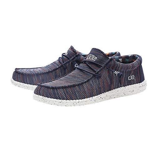 Dude Shoes Hombres Wally Sox Azul Naranja UK8 / EU42