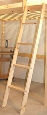 Pine Bunkbed Ladder - Bunk Bed Slanted Ladder Solid Pine - cheap UK Bunkbed store.