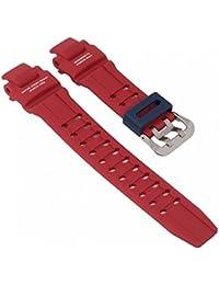Casio Armband G-Shock Gravitymaster Uhrenarmband für GA-1100 rot mit blauer Schlaufe