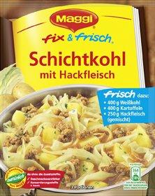 MAGGI fix & frisch Schichtkohl mit Hackfleisch 36g