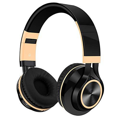 Huichao Drahtloses Bluetooth-Headset, kopfmontierter Subwoofer, steckbare Speicherkarte, Anrufbeantworter, kompatibel mit verschiedenen Smartphones, kabelgebundene und drahtlose Schaltung,Black