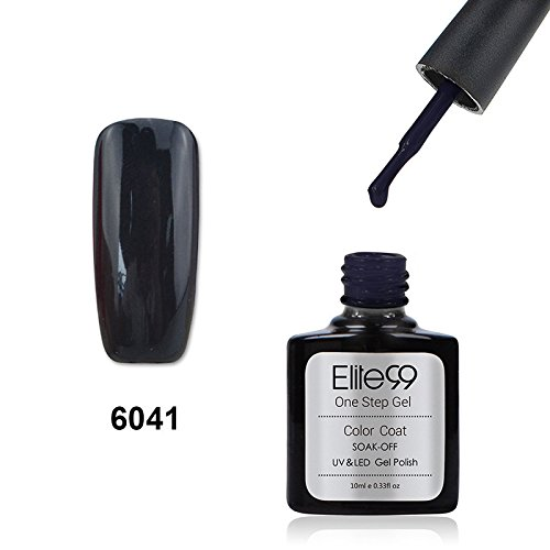 Elite99 Smalto Semipermanente UV LED Colore Gel Serie 3 in 1 One Step 10ml 6041 Nero