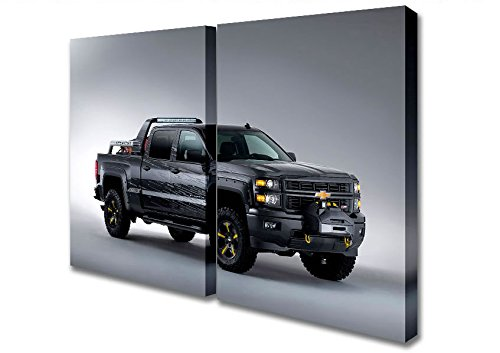 two-panel-chevrolet-silverado-black-ops-canvas-art-prints-extra-large-32-x-64-inches