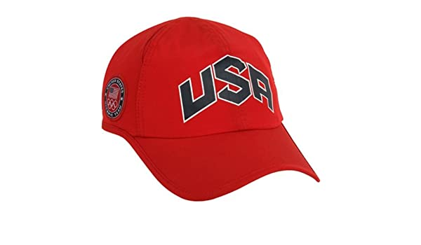 8caf09f8162 Nike 2012 USA Olympic Team Red Men s Training Runner Featherlight DRI-FIT  Hat  Amazon.co.uk  Sports   Outdoors
