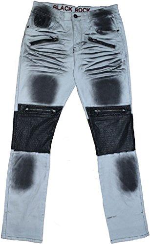 Blackrock Herren Jeanshose schwarz schwarz 36 Weiß