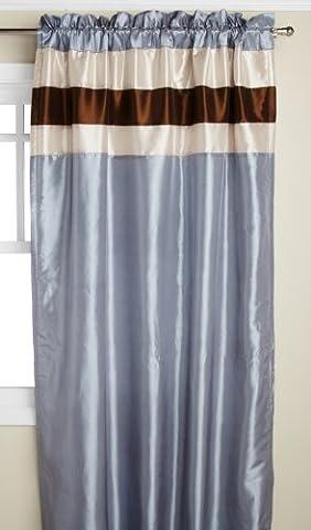RT Designers Collection Nantucket doublé et Interlined fenêtre Panneaux, 54par 213,4cm, Bleu glacier
