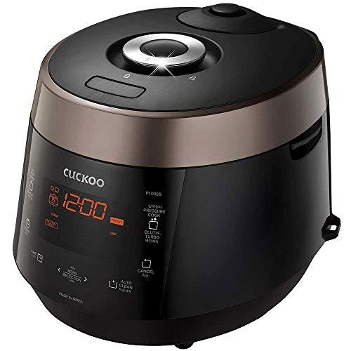 CUCKOO CRP-P1009S programmierbarer Dampfdruck Reiskocher, Schnellkochtopf, Schongarer aus Edelstahl