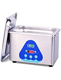 DK SONIC Mini Ultrasonic Cleaner 800mL 42KHz Sonic Cleaner with Digital Timer Basket for Jewelry,Ring,Eyeglasses,Denture,Watchband,Coins,Small Metal Parts etc